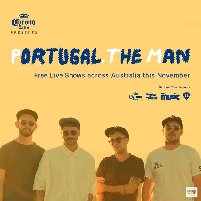 live free portugal the man corona festival summer Australia beach vibes