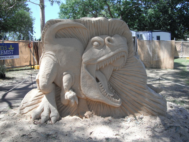 lost world sand sculpture
