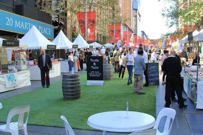 markets in may, sydney, martin place, markets, produce, new south wales