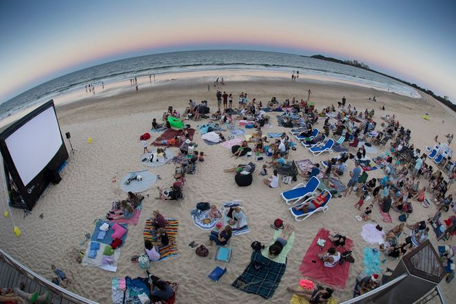 Mooloolaba Summer Beach Movie Series, gold coin donation, Mamma Mia!, Home Alone, The Jungle Book, The Greatest Showman, E.T. The Extra-Terrestrial, Moana, Loo with a View, sundown, free entertainment, fun activities