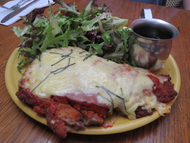 Mrs F's Eatery, Schnitzel Millwright Style, Adelaide