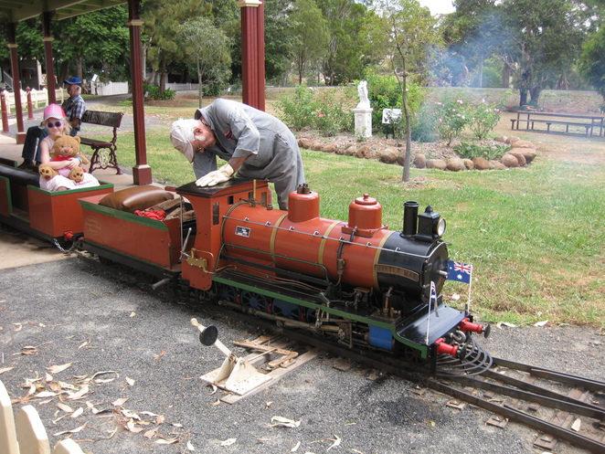 Myrtle May miniature steam train Pioneer Village Highfields