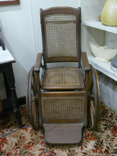 old wheelchair, Ardrossan museum, medical