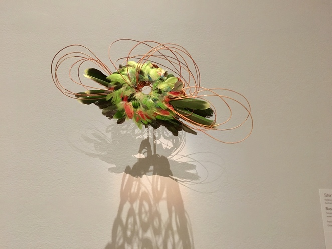 One of a series of fascinators