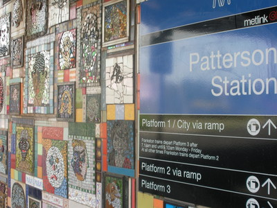 Patterson,Station,railway,mosaic,face,faces