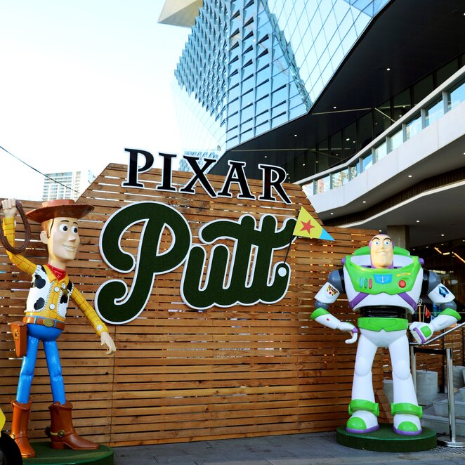 pixar putt, disney mini golf, mini golf perth, things to do in september, things to do in October, things to do in the school holidays,