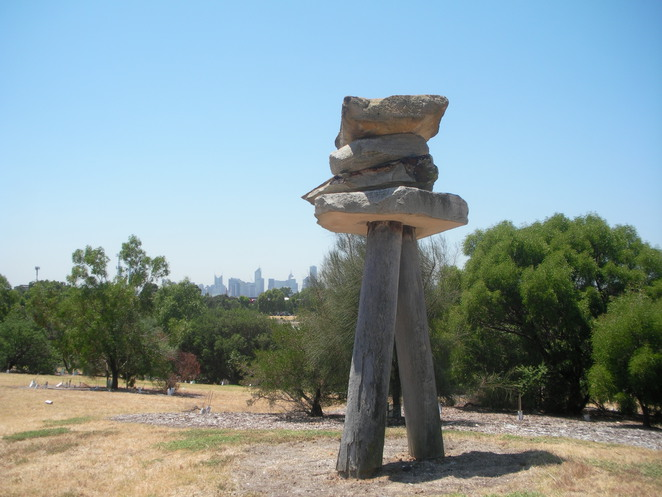 sculpture,westgate park,city view