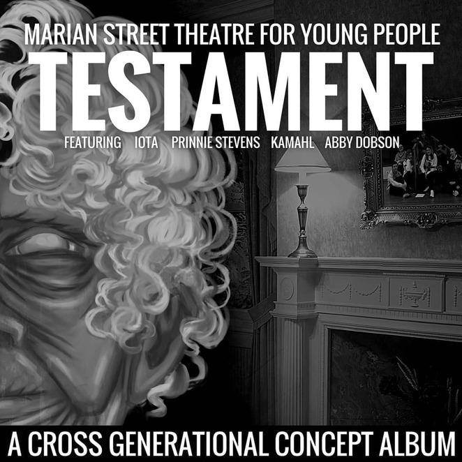 testament album, stories of a community, testament a cross generational concept album, music availalbe on spotify, testament on spotify, testament on apple music, testament on itunes store, performing arts, musicians, music album, songs, bands, marian street theatre for young people, entertainment, testament for sale