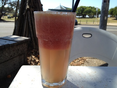The watermelon, passionfruit and apple juice ($6.90) was delicious