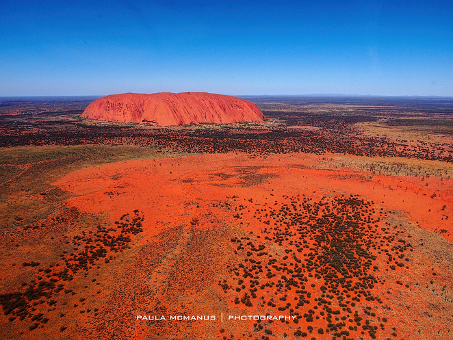 Uluru from helicopter