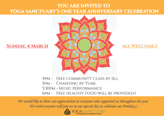 Yoga Sanctuary Celebration
