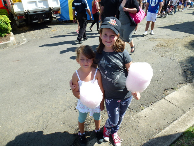 The girls with their fairy floss