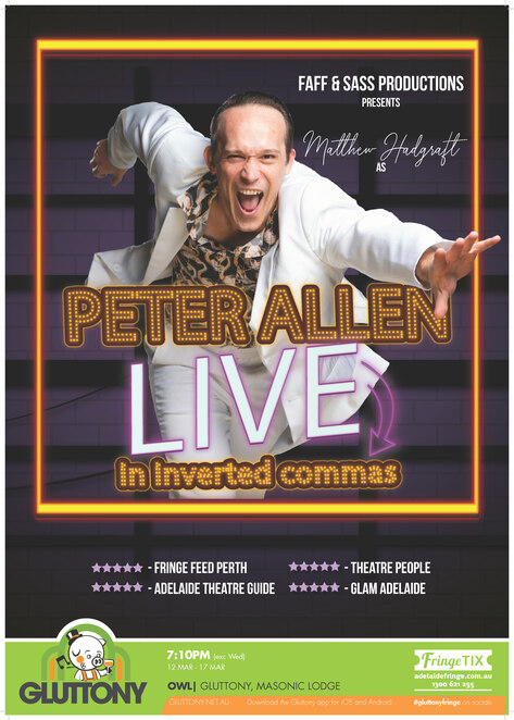 adelaide fringe, the owl, faff and sass, peter allen live, itsthemattshow