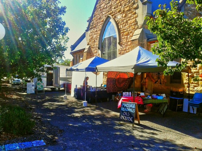 adelaide health and wellbeing market, market stalls, goodwood road, church of the trinity, market, adelaide, goodwood, adelaide market
