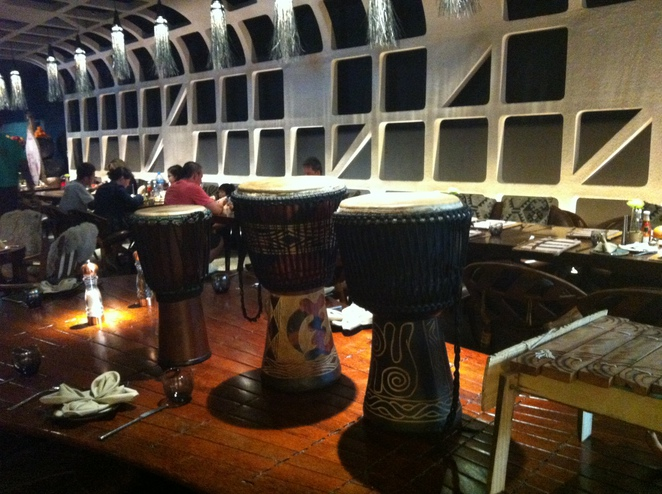 African drums, Tribes Restaurant, African food, Mall of the Emirates, Dubai