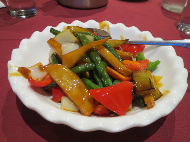 Ba Guo Bu Yi Chinese Restaurant, Braised Potato Beans and Eggplant, Adelaide