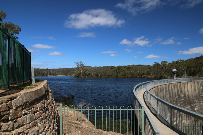 Looking south across the Barossa Reservoir