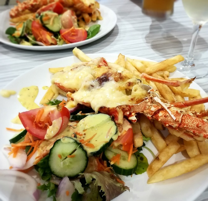 bay brasserie, half lobster mornay, wests nelson bay, NSW, mothers day, 2019, whats on, lunch, special, port stephens,