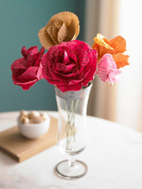 Better Homes and Gardens mothers days craft paper flowers