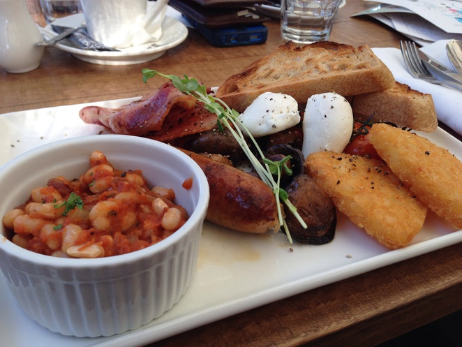 Big Breakfast with homemade baked beans