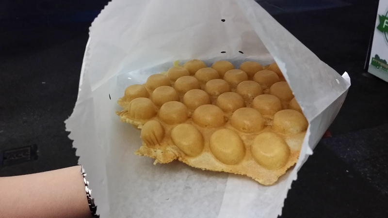 ... snacks happy meal sells a honeycomb of egg waffles for around $ 4 00