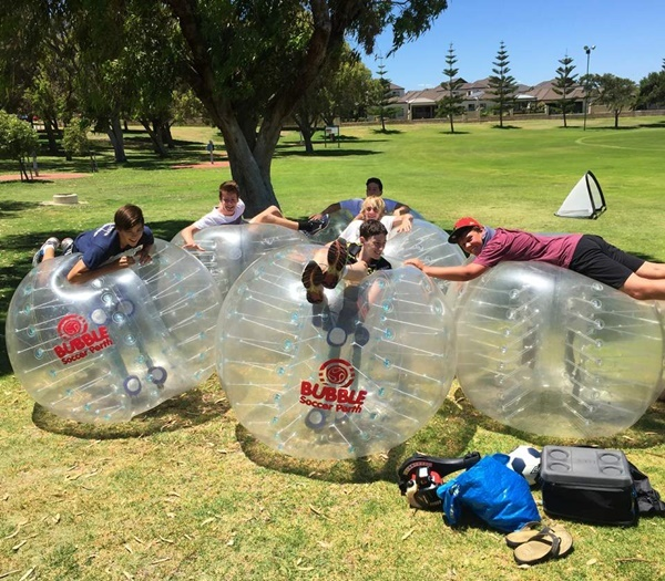 Great,fun,playing,bubble,soccer