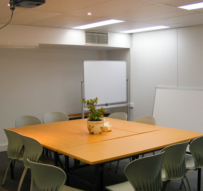 One of several learning spaces at the Henderson Gallery