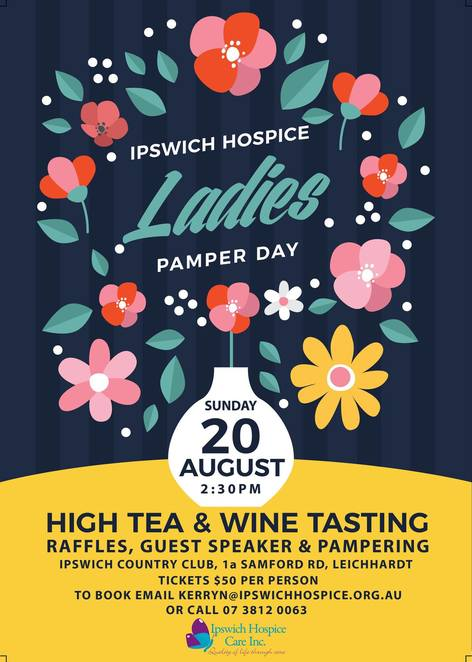 Ipswich, Hospice, High Tea, Girls Day Out, Raffles, Guest Speakers, Shopping, Entertainment