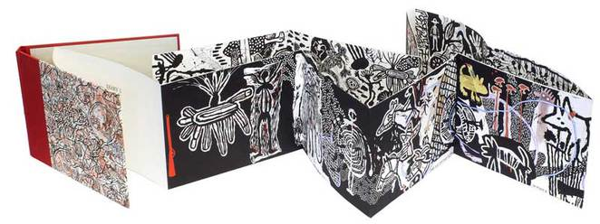 Diary 1 – artist book, linocut, silkscreen & watercolour, edition 4 of 6, 20 x 300cm (dimensions variable)