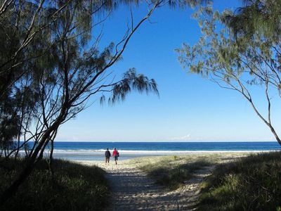 The beach at Kingscliff. Image from Wikimedia Commons (by Dinkum).