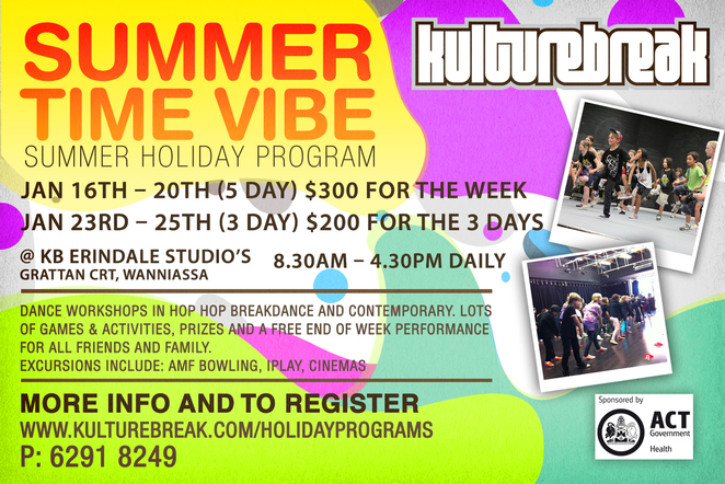 kulturebreak, canberra, wrindale, dance studio, school holidays, canberra, ACT,