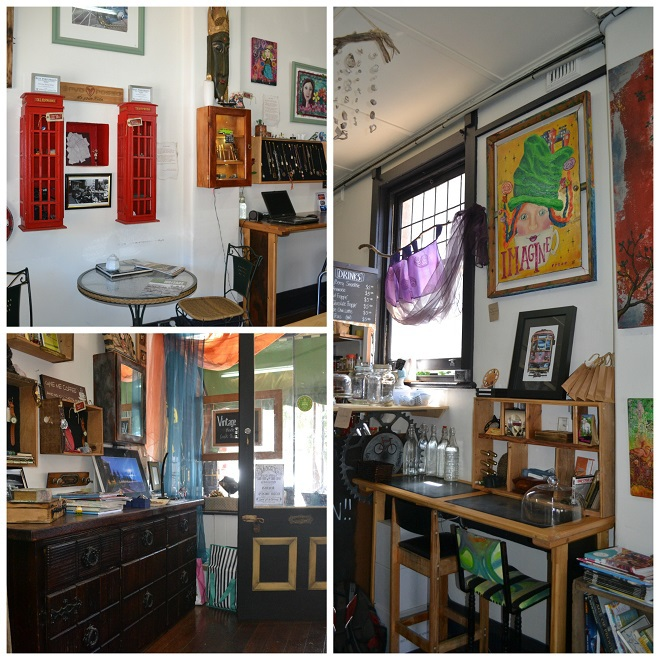 La Musette Cafe and Gallery, jewelry, art, watches