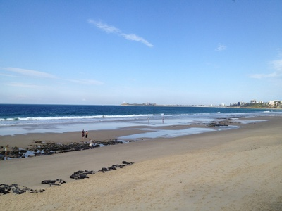 Maroochydore Beach is right across the road. This is looking towards Alexandra Headland, Mooloolaba and Point Cartwright