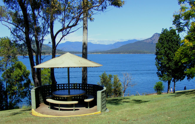 Fred Haigh Park at Lake Moogerah is a nice place to sit and relax after the hike