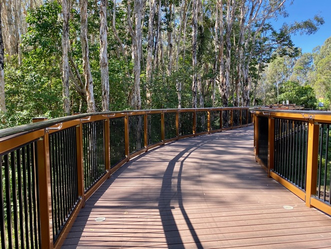 A new section of boardwalk above Pt Halloran Conservation Park