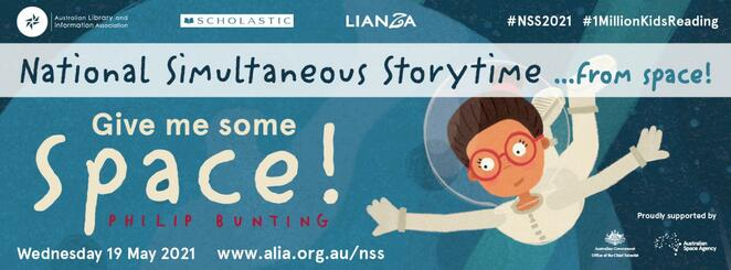 NSS, National Simultaneous Storytime, read with Astronauts, reading events in Australia, Storytime with your child, International Space Station, Give Me Some Space!, Reading Events Australia, How to help your child read, reading to kids