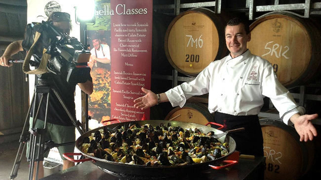 paella cooking class, verandah restaurant pokolbin, hunter valley cooking classes
