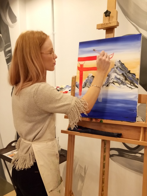 Painting instructor, paint and sip, creative workshop, fun things to do in melbourne, painting classes