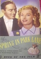 Spring in Park Lane book, Michael Wilding, Anna Neagle, romantic comedies
