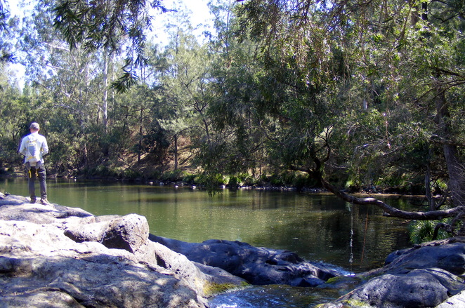 The swimming hole at the second campsite on Tooloom Creek