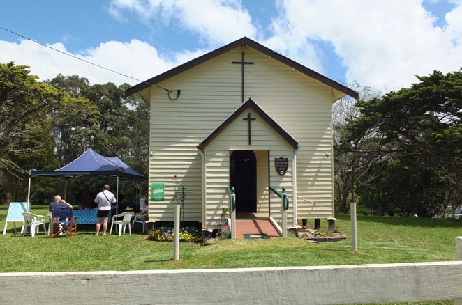 The Hamlet of Witta, German descendants, between Maleny and Kenilworth, historical value, breathtaking views of the Mary Valley, Witta Cemetery, Blackall Range Growers' Market, Good Shepherd Lutheran Church circa 1910, quaint little hamlet