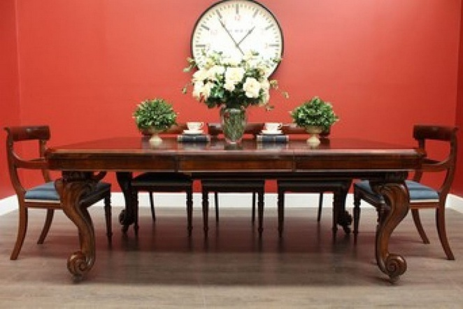 victorian, dining, table, flowers, furniture, antique, second hand, the meadows, interior