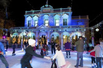Winter Light Festival, Parramatta, The Ice Skating Rink