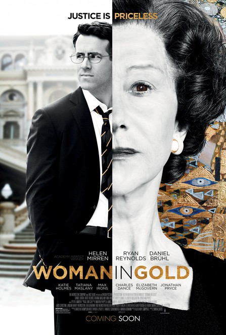 woman in gold, movie review, film review, helen mirren, ryan reynolds, daniel bruhl, katie holmes, klimt lady in gold