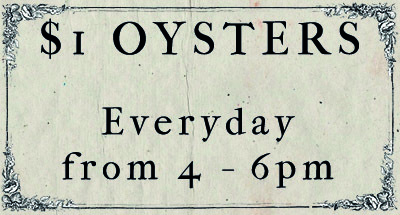 $1 oysters, cheap oysters sydney, the wild rover