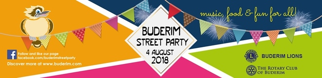 2018 Buderim Street Party, Buderim Village, The Lions Club of Buderim, The Rotary Club of Buderim, community event, growing in strength and popularity, performers, vendors, charities, community groups, fabulous family night out, save the date, festive, food, buskers, street performers