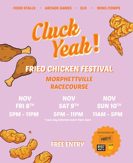 adelaide, fried chicken, nuggets, wings, beer, wine, festival, food, morphettville
