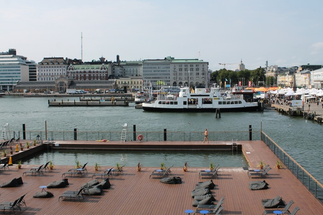 allas sea pools cafe helsinki finland water swim sauna vegetarian soup salad lunch
