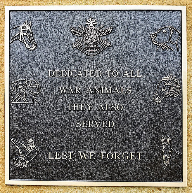 ANZAC Day Sunset Service at ANZAC Cottage 2018. Remembering, the animals who also served.