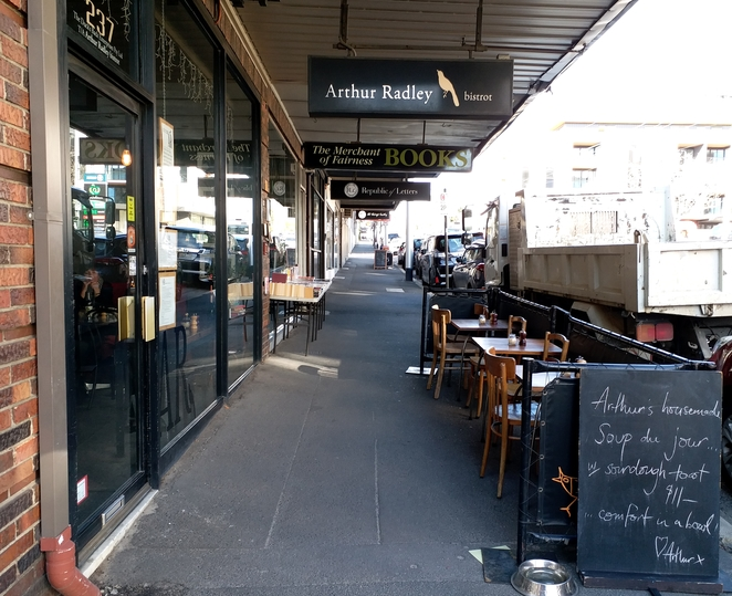 Arthur Radley Bistrot on Whitehorse Road, Balwyn. Image credit: Aridhi Anderson.